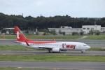 KAZFLYERさんが、成田国際空港で撮影したティーウェイ航空 737-8ASの航空フォト(写真)