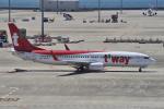 yabyanさんが、中部国際空港で撮影したティーウェイ航空 737-8KNの航空フォト(飛行機 写真・画像)