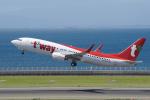 yabyanさんが、中部国際空港で撮影したティーウェイ航空 737-8KNの航空フォト(写真)