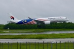 ふくそうじさんが、成田国際空港で撮影したマレーシア航空 A350-941XWBの航空フォト(写真)