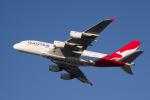 かずまっくすさんが、シドニー国際空港で撮影したカンタス航空 A380-842の航空フォト(写真)
