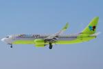 セブンさんが、新千歳空港で撮影したジンエアー 737-8Q8の航空フォト(飛行機 写真・画像)