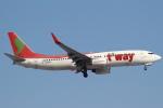 セブンさんが、新千歳空港で撮影したティーウェイ航空 737-86Nの航空フォト(飛行機 写真・画像)