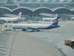 kiyohsさんが、香港国際空港で撮影したアエロフロート・ロシア航空 777-3M0/ERの航空フォト(飛行機 写真・画像)