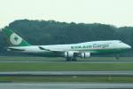 セブンさんが、シンガポール・チャンギ国際空港で撮影したエバー航空 747-45E(BDSF)の航空フォト(飛行機 写真・画像)