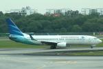 セブンさんが、シンガポール・チャンギ国際空港で撮影したガルーダ・インドネシア航空 737-8U3の航空フォト(飛行機 写真・画像)