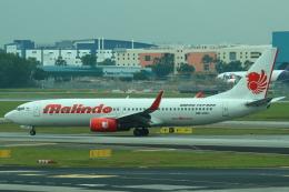 セブンさんが、シンガポール・チャンギ国際空港で撮影したマリンド・エア 737-8GPの航空フォト(飛行機 写真・画像)