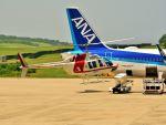 ナナオさんが、石見空港で撮影した朝日航洋 206B JetRanger IIの航空フォト(写真)