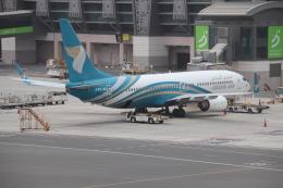 天王寺王子さんが、マスカット国際空港で撮影したオマーン航空 737-8FZの航空フォト(飛行機 写真・画像)