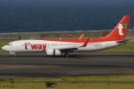 きんめいさんが、中部国際空港で撮影したティーウェイ航空 737-8KNの航空フォト(写真)