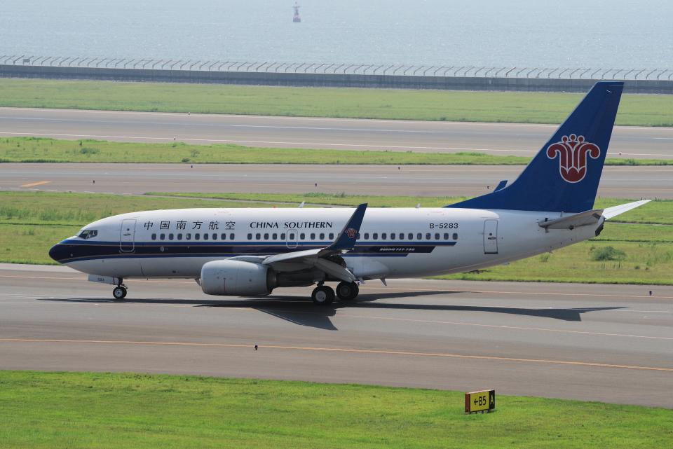 yabyanさんの中国南方航空 Boeing 737-700 (B-5283) 航空フォト