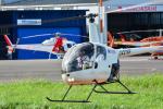 パンダさんが、東京ヘリポートで撮影した日本フライトセーフティ R22 Beta IIの航空フォト(写真)