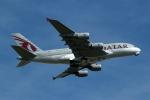 採れたてほしいもさんが、ロンドン・ヒースロー空港で撮影したカタール航空 A380-861の航空フォト(写真)