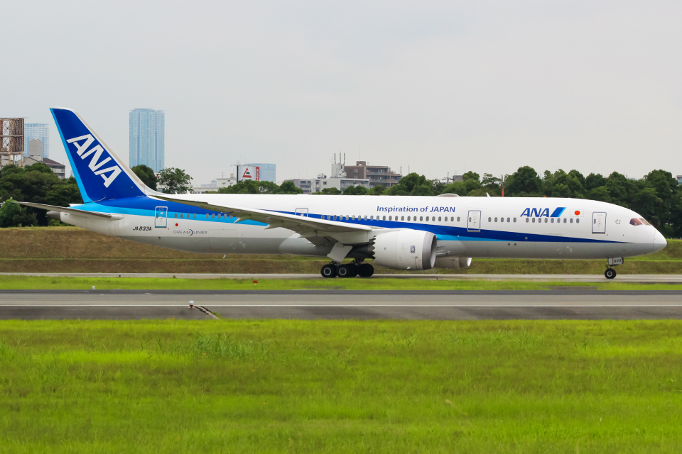 まくろすさんの全日空 Boeing 787-9 (JA833A) 航空フォト