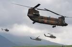 チャーリーマイクさんが、東富士演習場で撮影した陸上自衛隊 CH-47JAの航空フォト(写真)
