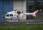 チャーリーマイクさんが、東京ヘリポートで撮影した朝日航洋 BK117C-2の航空フォト(写真)