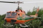 すけちゃんさんが、群馬ヘリポートで撮影したアカギヘリコプター 204B-2(FujiBell)の航空フォト(写真)