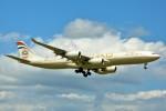 ちっとろむさんが、成田国際空港で撮影したエティハド航空 A340-541の航空フォト(写真)
