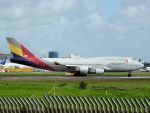 White Pelicanさんが、成田国際空港で撮影したアシアナ航空 747-48Eの航空フォト(写真)