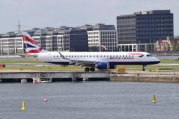 k-spotterさんが、ロンドン・シティ空港で撮影したBAシティフライヤー ERJ-190-100 LR (ERJ-190LR)の航空フォト(飛行機 写真・画像)