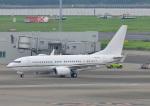 じーく。さんが、羽田空港で撮影したロイヤル・ジェット 737-77W BBJの航空フォト(飛行機 写真・画像)