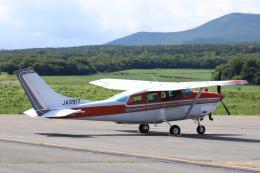 syo12さんが、鹿部飛行場で撮影した川崎航空 TU206G Turbo Stationair 6の航空フォト(飛行機 写真・画像)
