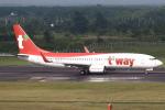 セブンさんが、新千歳空港で撮影したティーウェイ航空 737-8KNの航空フォト(飛行機 写真・画像)