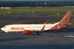 セブンさんが、新千歳空港で撮影したマリンド・エア 737-8GPの航空フォト(飛行機 写真・画像)