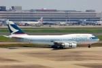 ちっとろむさんが、羽田空港で撮影したキャセイパシフィック航空 747-412の航空フォト(写真)