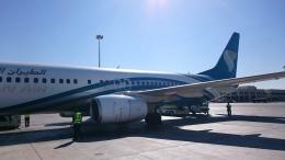 kumachanさんが、マスカット国際空港で撮影したオマーン航空 737-800の航空フォト(飛行機 写真・画像)