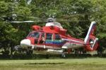 筑波のヘリ撮りさんが、常総市で撮影した埼玉県防災航空隊 AS365N3 Dauphin 2の航空フォト(写真)