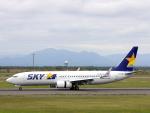 funi9280さんが、新千歳空港で撮影したスカイマーク 737-8ALの航空フォト(飛行機 写真・画像)