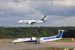 funi9280さんが、新千歳空港で撮影したANAウイングス DHC-8-402Q Dash 8の航空フォト(飛行機 写真・画像)