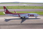 yabyanさんが、中部国際空港で撮影したティーウェイ航空 737-8ASの航空フォト(飛行機 写真・画像)