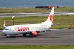 セブンさんが、関西国際空港で撮影したタイ・ライオン・エア 737-8GPの航空フォト(飛行機 写真・画像)