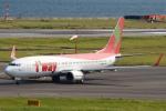 セブンさんが、関西国際空港で撮影したティーウェイ航空 737-86Nの航空フォト(飛行機 写真・画像)