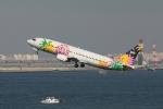 やつはしさんが、羽田空港で撮影したスカイネットアジア航空 737-4M0の航空フォト(写真)