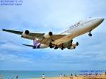 masarunphotosさんが、プーケット国際空港で撮影したタイ国際航空 747-4D7の航空フォト(写真)