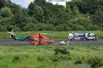 だびでさんが、調布飛行場で撮影した三井物産エアロスペース AW139の航空フォト(写真)