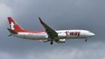 パンダさんが、成田国際空港で撮影したティーウェイ航空 737-8ASの航空フォト(写真)