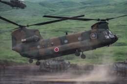 椰子さんが、東富士演習場で撮影した陸上自衛隊 CH-47Jの航空フォト(飛行機 写真・画像)