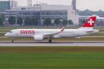PASSENGERさんが、ミュンヘン・フランツヨーゼフシュトラウス空港で撮影したスイスインターナショナルエアラインズ BD-500-1A11 CSeries CS300の航空フォト(写真)