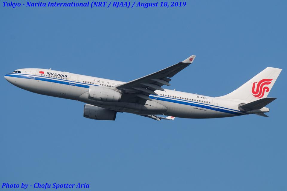 Chofu Spotter Ariaさんの中国国際航空 Airbus A330-200 (B-6533) 航空フォト