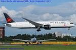 Chofu Spotter Ariaさんが、成田国際空港で撮影したエア・カナダ 787-9の航空フォト(飛行機 写真・画像)