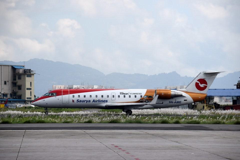 よんすけさんのサユラ・エアラインズ Bombardier CRJ-200 (9N-AME) 航空フォト