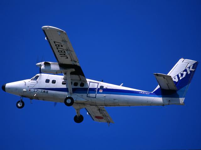 K.Sさんが、函館空港で撮影したエアー北海道 DHC-6-300 Twin Otterの航空フォト(飛行機 写真・画像)