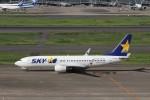 KAZFLYERさんが、羽田空港で撮影したスカイマーク 737-8Q8の航空フォト(飛行機 写真・画像)
