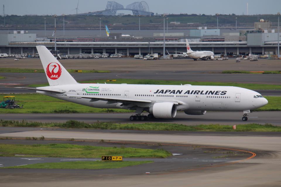 やつはしさんの日本航空 Boeing 777-200 (JA705J) 航空フォト
