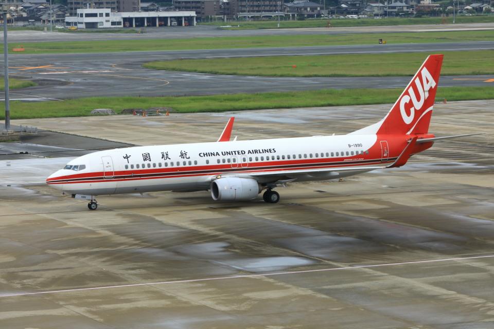 Love Airbus350さんの中国聯合航空 Boeing 737-800 (B-1990) 航空フォト