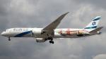誘喜さんが、ロンドン・ヒースロー空港で撮影したエル・アル航空 787-9の航空フォト(写真)
